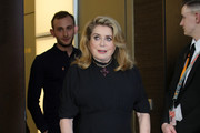 """Catherine Deneuve arrives for the """"Farewell To The Night"""" (L'adieu a la nuit) photocall during the 69th Berlinale International Film Festival Berlin at Grand Hyatt Hotel on February 12, 2019 in Berlin, Germany."""