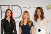 (L-R)  Queen Rania of Jordan, F4D Founder Evie Evangelou and Sara Cavazza Facchini attend the Fashion 4 Development's 5th annual Official First Ladies luncheon at The Pierre Hotel on September 28, 2015 in New York City.
