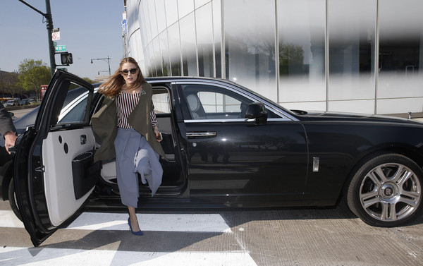 photo of Olivia Palermo Rolls Royce - car