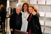 "Stan Herman, Fern Mallis, and Diane Von Furstenberg attend ""Fashion Lives"" book launch>> at Saks Fifth Avenue on April 20, 2015 in New York City."