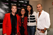 (L-R) Lance Bass, Fern Mallis, Sachin Ahluwalia, and Babi Ahluwalia attend Fashion's Night Out at Saks Fifth Avenue on September 6, 2012 in New York City.