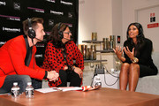 Lance Bass, Fern Mallis and designer Rachel Roy attend Fashion's Night Out at Saks Fifth Avenue on September 6, 2012 in New York City.