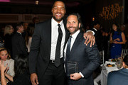 Michael Strahan and Centric Brands CEO Jason Rabin attends The Fashion Scholarship Fund Gala at New York Hilton on January 07, 2020 in New York City.