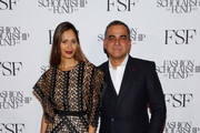 Ujjwala Raut and Bibhu Mohapatra attend The Fashion Scholarship Fund Gala at New York Hilton on January 07, 2020 in New York City.