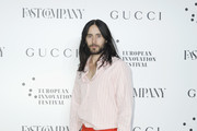 Jared Leto attends Fast Company European Innovation Festival Powered By Gucci on July 10, 2019 in Milan, Italy.