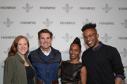 """(L-R) Kelly Strickland, Senior Vice President of Tour Marketing, Live Nation, Bill Diggins, Founder and CEO of Diggit Entertainment, Rozonda """"Chilli"""" Thomas, Singer-Songwriter, TLC, and KC Ifeanyi, Associate Editor, Fast Company attend the Fast Company Grill on March 09, 2019 in Austin, Texas."""