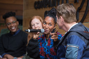 """(L-R) KC Ifeanyi, Associate Editor, Fast Company, Kelly Strickland, Senior Vice President of Tour Marketing, Live Nation, Rozonda """"Chilli"""" Thomas, Singer-Songwriter, TLC, and Bill Diggins, Founder and CEO of Diggit Entertainment attend the Fast Company Grill on March 09, 2019 in Austin, Texas."""