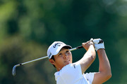 Danny Lee of New Zealand plays his second shot on the tenth hole during the first round of the FedEx St. Jude Classic at TPC Southwind on June 7, 2018 in Memphis, Tennessee.