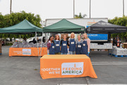Shanola Hampton, JoAnna Garcia, Leighton Meester, Malin Ã…kerman, Jennie Garth and Luca Bella Facinelli volunteer at the Feeding America and Los Angeles Regional Food Bank Team in a special volunteer event for Mother's Day on May 07, 2019 in Los Angeles, California.