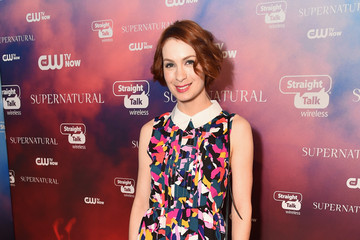 "Felicia Day CW's ""Supernatural"" Fan Party To Celebrate The 200th Episode Of ""Supernatural"""