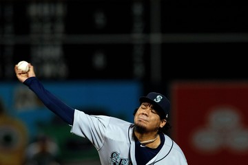 Felix Hernandez Seattle Mariners v Oakland Athletics