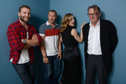 (L-R) Actor Jai Courtney, actor Joel Edgerton, actress Melissa George and actor Tom Wilkinson of 'Felony' pose at the Guess Portrait Studio during 2013 Toronto International Film Festival on September 10, 2013 in Toronto, Canada.