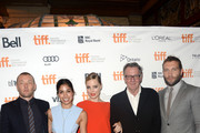 (L-R) Actor/ writer/ producer Joel Edgerton, actors Sarah Roberts, Melissa George, Tom Wilkinson and Jai Courtney arrive at the 'Felony' Premiere during the 2013 Toronto International Film Festival at The Elgin on September 10, 2013 in Toronto, Canada.