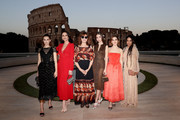 Zoey Deutch, Catherine Zeta Jones, Susan Sarandon, Carys Zeta Douglas, Kiernan Shipka and Lilakoi Moon attend the Cocktail at Fendi Couture Fall Winter 2019/2020 on July 04, 2019 in Rome, Italy.