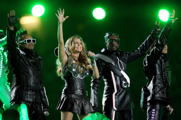 (FILE) A Look Back At The Super Bowl Halftime Shows [halftime shows,green,performance,performing arts,event,stage,pop music,concert,performance art,rock concert,musical,taboo,will.i.am,fergie,look,file,l-r,black eyed peas,ap,super bowl]
