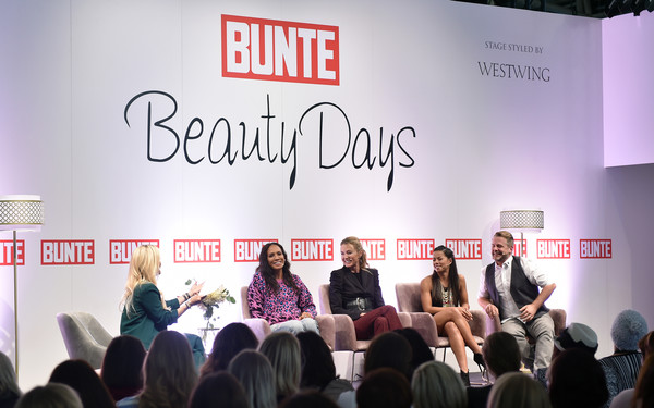 Bunte Beauty Days In Munich [text,event,youth,fashion,font,design,news conference,crowd,convention,brand,jennifer knaeble,prinzessin lilly,fernanda brandao,norman pohl,barbara becker,view,munich,sayn-wittgenstein-berleburg,messe muenchen,bunte beauty days]
