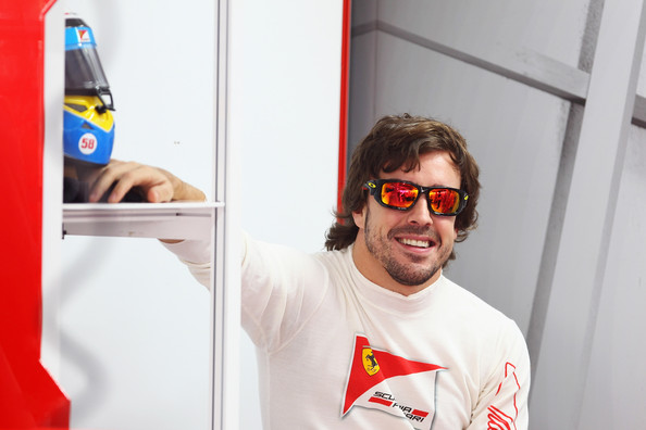 Fernando Alonso Fernando Alonso of Spain and Ferrari prepares to drive during the final practice session prior to qualifying for the Indian Formula One Grand Prix at the Buddh International Circuit on October 29, 2011 in Noida, India.