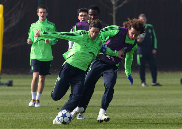 Fernando Torres and David Luiz Photos Photos - Chelsea Training ... f7f63763112