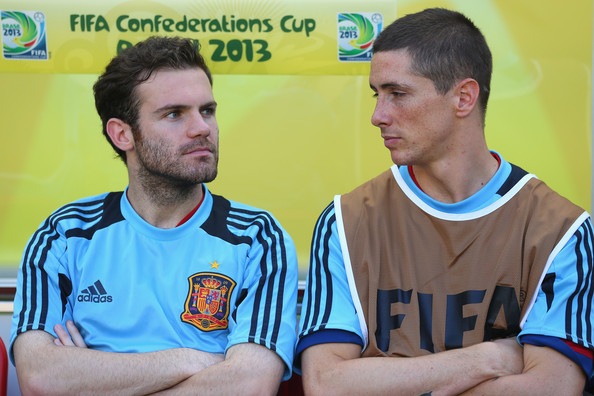 Fernando Torres and Juan Mata - Nigeria v Spain: Group B - FIFA Confederations Cup Brazil 2013