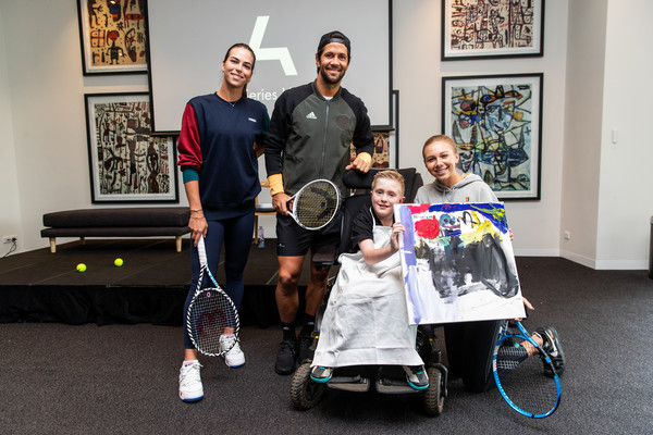 Art Series Hotels Host Life Drawing Class For Australian Open Tennis Stars [art series hotels host life drawing class for australian open tennis stars,tennis,racquet sport,padel,disabled sports,wheelchair sports,racket,sports,competition event,wheelchair,games,life drawing class,angus lloyd,amanda anisimova,fernando verdasco,aija tomljanovic,l-r,the larwill,art series hotels,royal childrens hospital foundation,amanda anisimova,photography,photograph,image,stock photography,tennis,getty images,illustration]