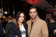 Lucy Watson and James Dunmore attend the UK launch of the Ferrari 488 Spider at Watches of Switzerland on February 25, 2016 in London, England.