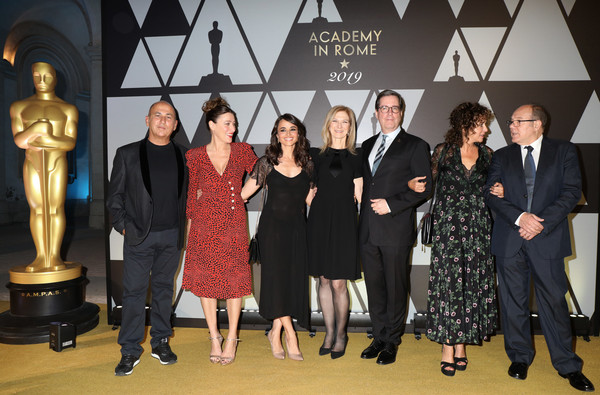 Academy Of Motion Picture, Arts And Sciences, And Istituto Luce - Cinecittà Event [social group,fashion,event,team,fun,fashion design,suit,little black dress,formal wear,metal,istituto luce,valeria golino,dawn hudson,david rubin,valeria bruni tedeschi,ferzan ozpetek,m\u00e3a maestro,l-r,academy of motion picture,cinecitt\u00e0 event]