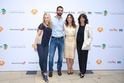 (L-R) Actress Hannah New, actor Ruben Cortada, actress Adriana Ugarte and author Lola Duenas promote the 'El Tiempo Entre Costuras' new season during the day five of 5th FesTVal Television Festival 2013 at the Villa Suso Palace on September 6, 2013 in Vitoria-Gasteiz, Spain.