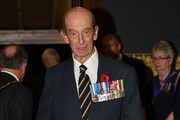 Prince Edward, Duke of Kent arrives at the annual Royal Festival of Remembrance to commemorate all those who have lost their lives in conflicts at the Royal Albert Hall on November 11, 2017 in London, England.