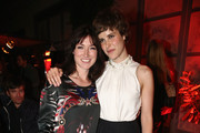 (L-R) Writer Charlotte Roche and actress Carla Juri attend 'Feuchtgebiete' Germany Premiere after show party at Gretchen on August 13, 2013 in Berlin, Germany.