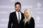 Matthew Rutler (L) and recording artist Christina Aguilera attend the Fifth Annual Baby2Baby Gala, Presented By John Paul Mitchell Systems at 3LABS on November 12, 2016 in Culver City, California.