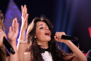 Camila Cabello of Fifth Harmony performs on the Honda Stage at iHeartRadio Theater on February 5, 2015 in Burbank, California.
