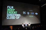 Jennifer Cochis, Mike White and David Branson Smith attend the Film Independent Directors Close Up Series - Storytellers: Writers and Directors at Landmark Theatre on February 14, 2018 in Los Angeles, California.