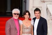 "Pedro Almodovar, Penelope Cruz and Antonio Banderas attend the ""Pain And Glory"" UK Premiere and opening gala of Film4 Summer Screen  at Somerset House on August 08, 2019 in London, England."