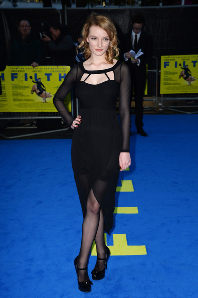Dakota Blue Richards attends the London premiere of 'Filth' at The Odeon Leicester Square on September 30, 2013 in London, England.