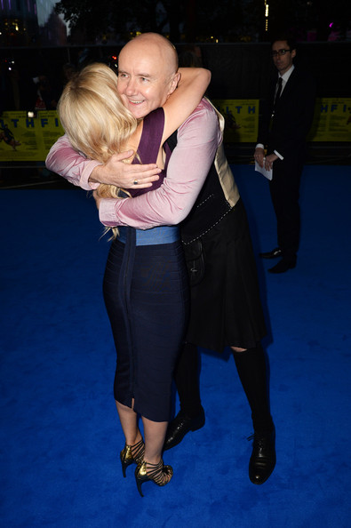 Joanne Froggatt and Irvine Welsh attend the London premiere of 'Filth' at The Odeon Leicester Square on September 30, 2013 in London, England.