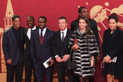(L-R) Ronalinho, Clarence Seedorf, Jay Jay Okocha, Lothar Matthaeus, Nwankwu Kanu, Anastasia Klimko, Celia Sasic all arrive prior to the Final Draw for the 2018 FIFA World Cup Russia at the State Kremlin Palace on December 1, 2017 in Moscow, Russia.