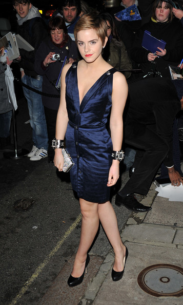 Emma Watson arrives for the Finch And Partners' Pre-BAFTA Party at Marks' Club on February 12, 2011 in London, England.