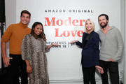 (L-R) Matt Rogers, Sade Strehlke, Candace Bushnell & Justin McLeod attend Fire TV Presents: Love on Screen Panel & Screening Event at Museum of Modern Love on October 11, 2019 in New York City.
