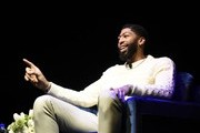 Lakers star Anthony Davis speaks onstage at the First Entertainment x Los Angeles Lakers and Anthony Davis Partnership Launch Event at The Theatre at Ace Hotel on March 4, 2020 in Los Angeles, California.