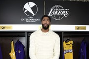 Lakers star Anthony Davis attends the First Entertainment x Los Angeles Lakers and Anthony Davis Partnership Launch Event at The Theatre at Ace Hotel on March 4, 2020 in Los Angeles, California.