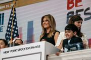 First Lady Melania Trump Rings Opening Bell Of New York Stock Exchange