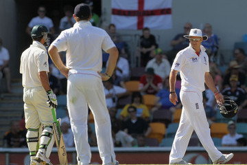 Andrew Strauss Ricky Ponting First Test - Australia v England: Day Five
