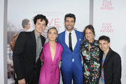 (L-R) Cole Sprouse, Haley Lu Richardson, Justin Baldoni, Cathy Schulman and Moisés Arias attend the Five Feet Apart Los Angeles premiere on March 07, 2019 in Los Angeles, California.