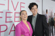 Haley Lu Richardson and Cole Sprouse attend the Five Feet Apart Los Angeles premiere on March 07, 2019 in Los Angeles, California.