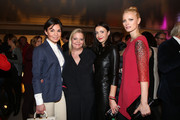 (L-R) Nadine Warmuth, Ingrid Rose, Anita Tillmann and Franziska Knuppe attend Flair Magazine Party at Pariser Platz 4  on January 15, 2013 in Berlin, Germany.