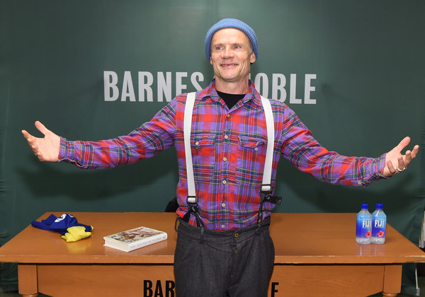 Flea Signs Copies Of His New Book 'Acid For The Children'