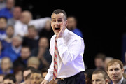 Billy Donovan the head coach of the Florida Gators gives instructions to his team during the game against the Kentucky Wildcats  at Rupp Arena on February 7, 2012 in Lexington, Kentucky.
