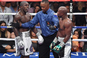 Floyd Mayweather Jr. and Andre Berto Photos Photo