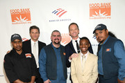 (L-R) Maurice Young, Honoree David Burtka, Johnny Rivera, Honoree Neil Patrick Harris, Kareem Heard Jr. and Waldo Marrero attend the Food Bank For New York City Can-Do Awards Dinner at Cipriani Wall Street on April 16, 2019 in New York City.