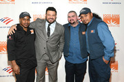 Maurice Young, Adam Richman, Waldo Marrero, and Johnny Rivera attend the Food Bank For New York City Can-Do Awards Dinner at Cipriani Wall Street on April 16, 2019 in New York City.